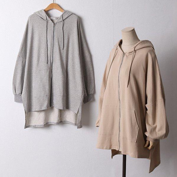 110 캐주얼루즈롱후드집업 DKYF410 도매 배송대행 미시옷 임부복