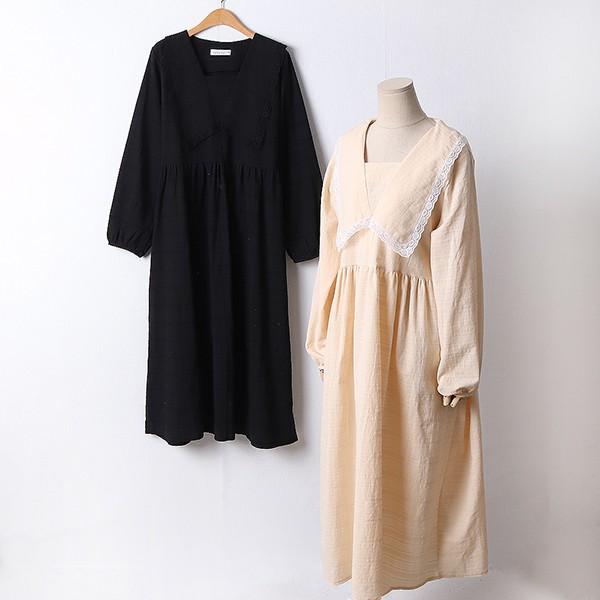 110 펀칭레이스코튼원피스 DYPF414 도매 배송대행 미시옷 임부복