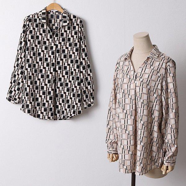 110 패턴오픈넥롱블라우스 DOLF428 도매 배송대행 미시옷 임부복
