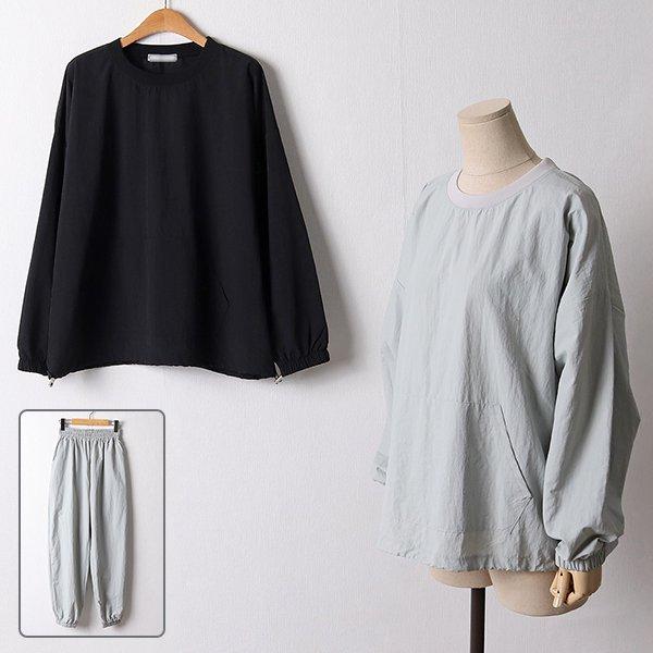 110 포켓라운드넥와샤세트 DDDF431 도매 배송대행 미시옷 임부복