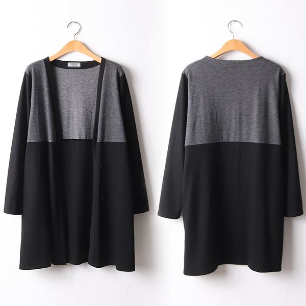 110 오픈배색스판롱가디건 DBGF437 도매 배송대행 미시옷 임부복