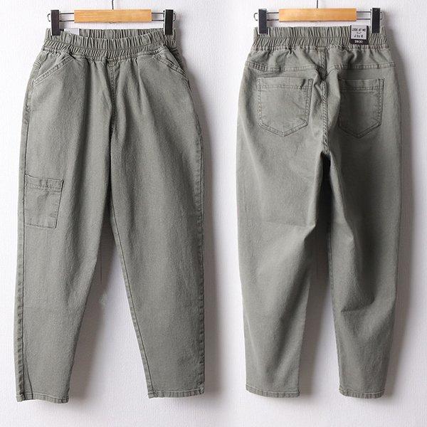110 코튼워싱밴딩배기팬츠 DLOF447 도매 배송대행 미시옷 임부복