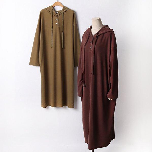 110 데일리버튼후드원피스 DRAF454 도매 배송대행 미시옷 임부복