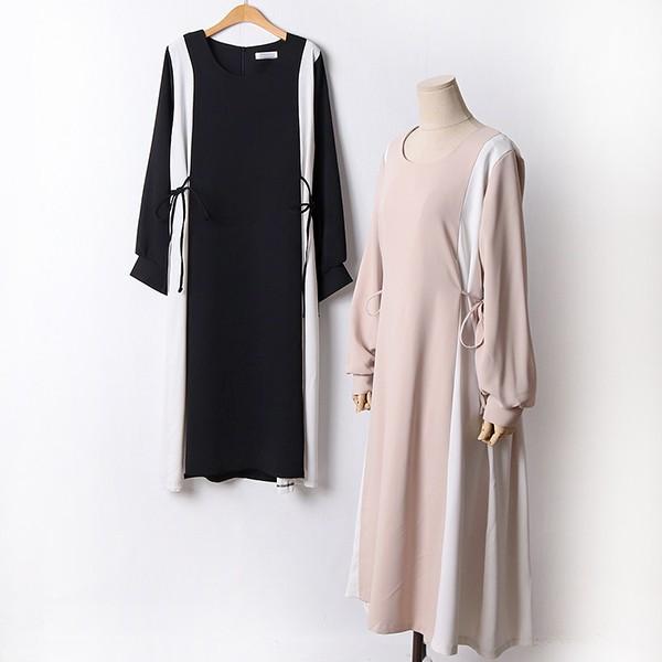 110 데일리배색쉬폰원피스 DBEF459 도매 배송대행 미시옷 임부복