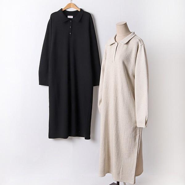 110 미니카라버튼롱원피스 DCHF467 도매 배송대행 미시옷 임부복