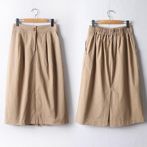 110 핀턱밴딩코튼롱스커트 DPEF469 도매 배송대행 미시옷 임부복