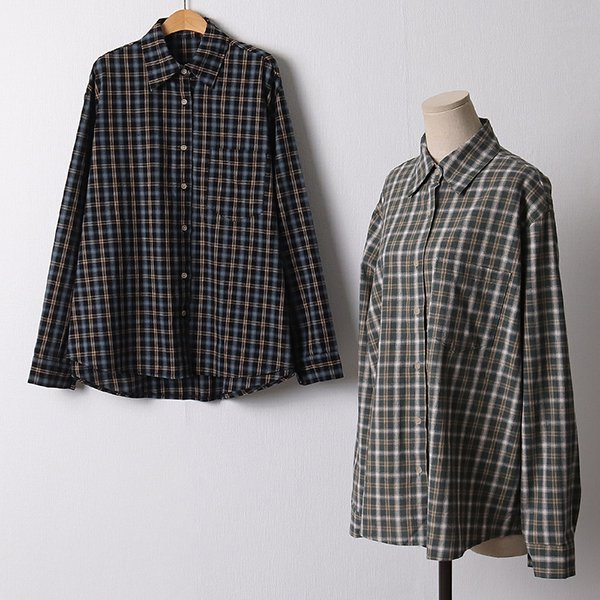 110 데일리롱코튼체크셔츠 DGYF475 도매 배송대행 미시옷 임부복