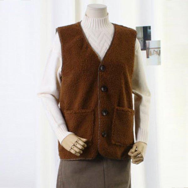 기본버튼양털베스트 TW7127M912  도매 배송대행 미시옷 임부복