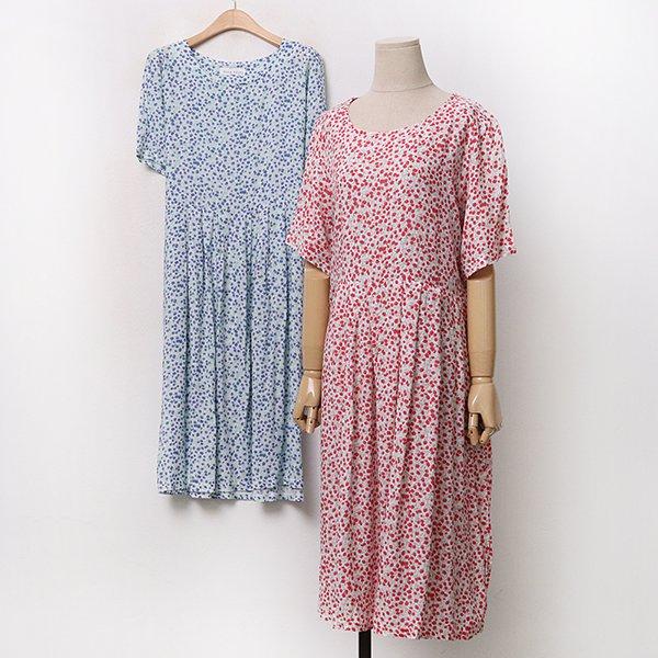 007 페미닌플리츠꽃원피스 DYPA141 도매 배송대행 미시옷 임부복