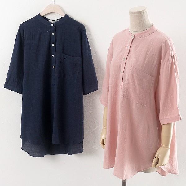 반오픈 마 블라우스 DN0600RM904  도매 배송대행 미시옷 임부복