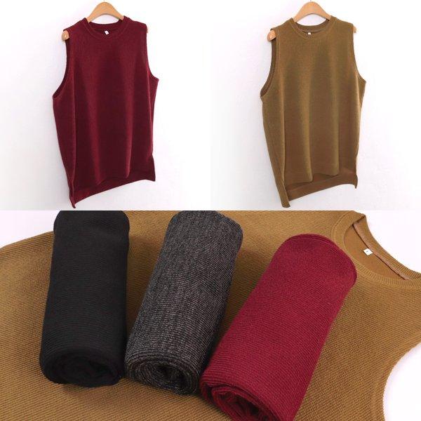 심플 업 골지 조끼 WWw113M901  도매 배송대행 미시옷 임부복
