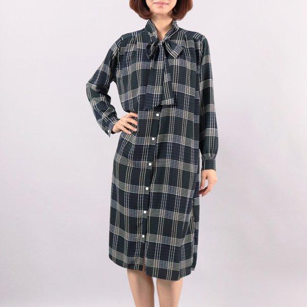 리본체크 롱원피스 WC3727M812  도매 배송대행 미시옷 임부복