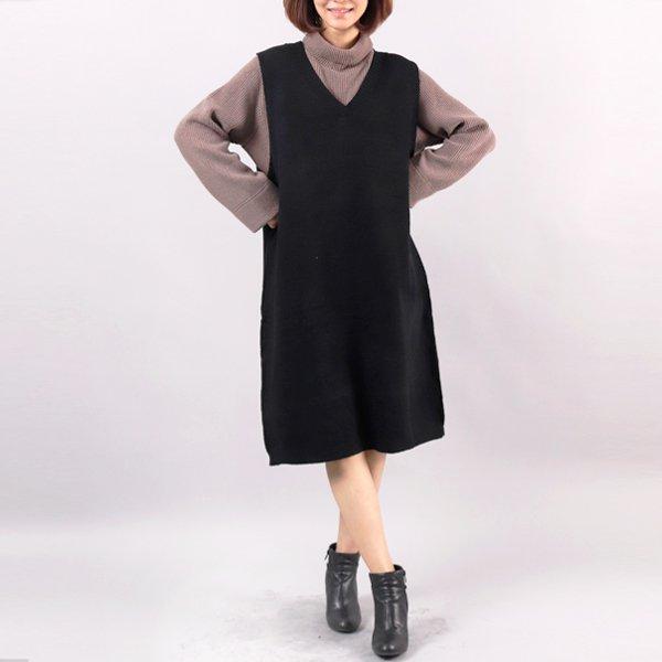 민소매 니트 원피스 WC3728M812  도매 배송대행 미시옷 임부복