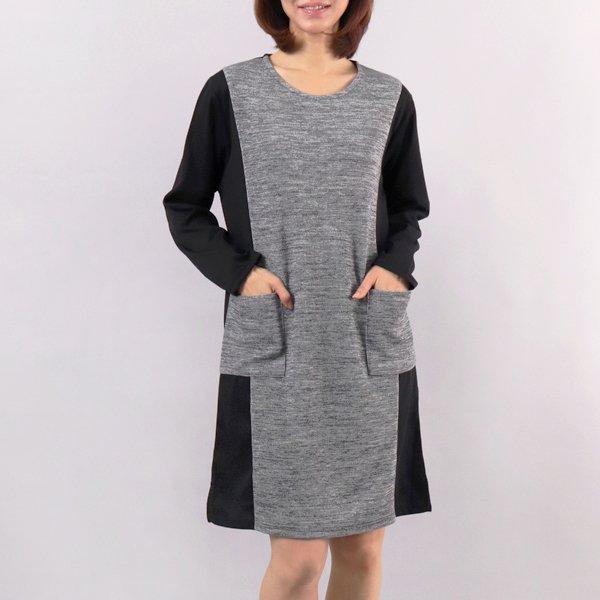 옆배색 포켓원피스 WW4179M902  도매 배송대행 미시옷 임부복