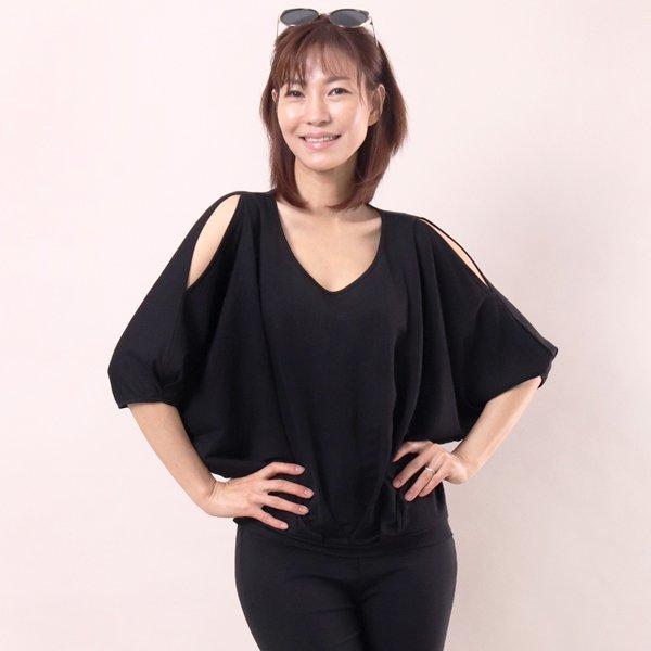 벌룬 숄더 블라우스 WC4682M904  도매 배송대행 미시옷 임부복