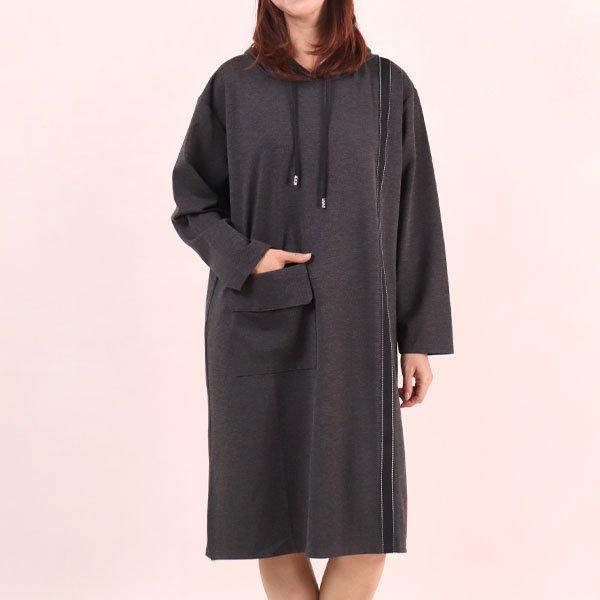 라인자수후드원피스 WC6481M909  도매 배송대행 미시옷 임부복