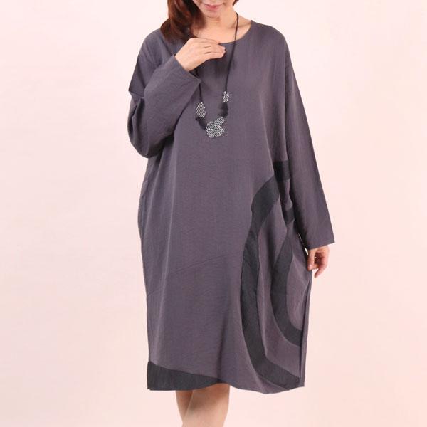 사이드링배색원피스 WC6484M909  도매 배송대행 미시옷 임부복