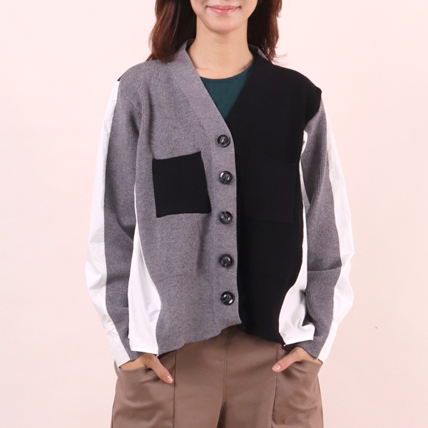 레이어드니트셔츠 WC6616M910  도매 배송대행 미시옷 임부복