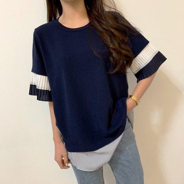 플리츠 소매 쉬폰티 BS5146M904  도매 배송대행 미시옷 임부복