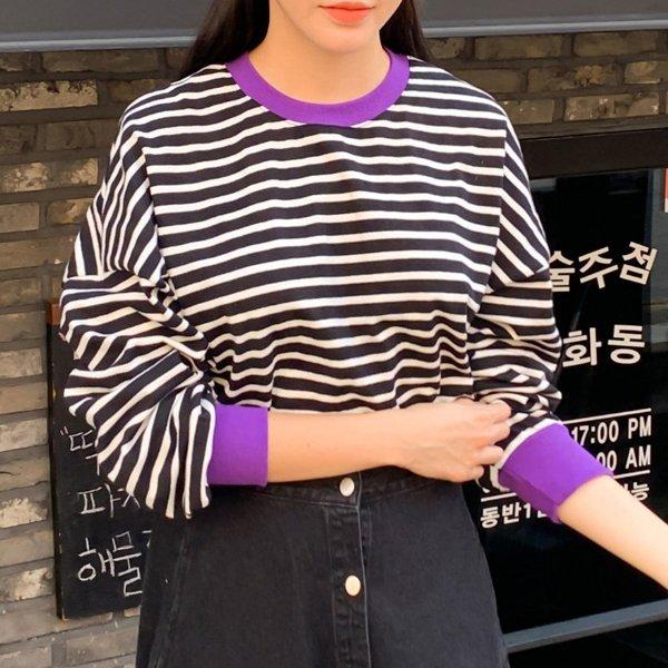 단가라 네온 맨투맨 WB6816M910  도매 배송대행 미시옷 임부복