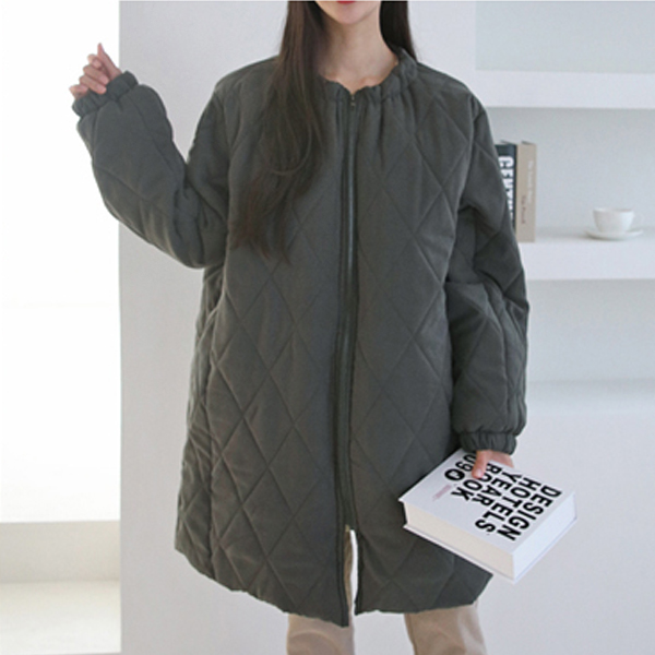 박시핏누빔집업패딩 PO7399M911  도매 배송대행 미시옷 임부복