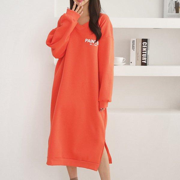 기모페인터롱원피스 AD7425M911  도매 배송대행 미시옷 임부복