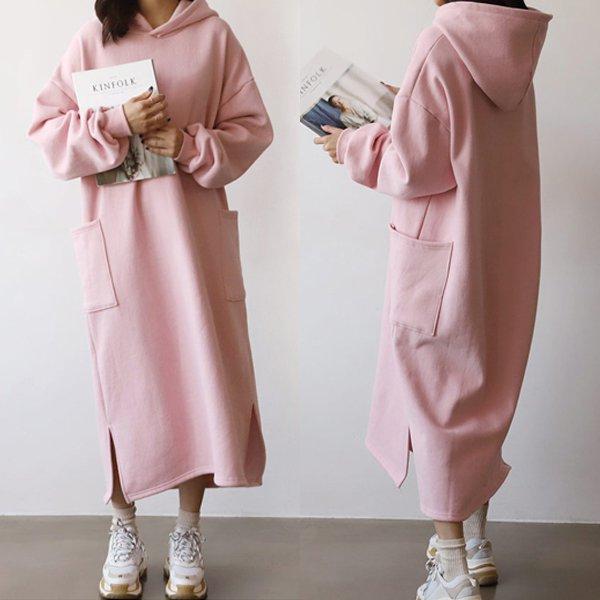 스퀘어 기모 원피스 GR7500M911  도매 배송대행 미시옷 임부복