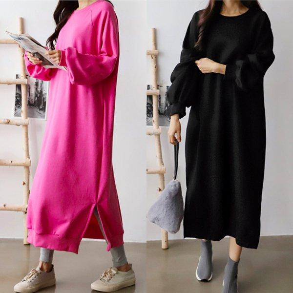 멜랑맨투맨롱원피스 GR7506M911  도매 배송대행 미시옷 임부복