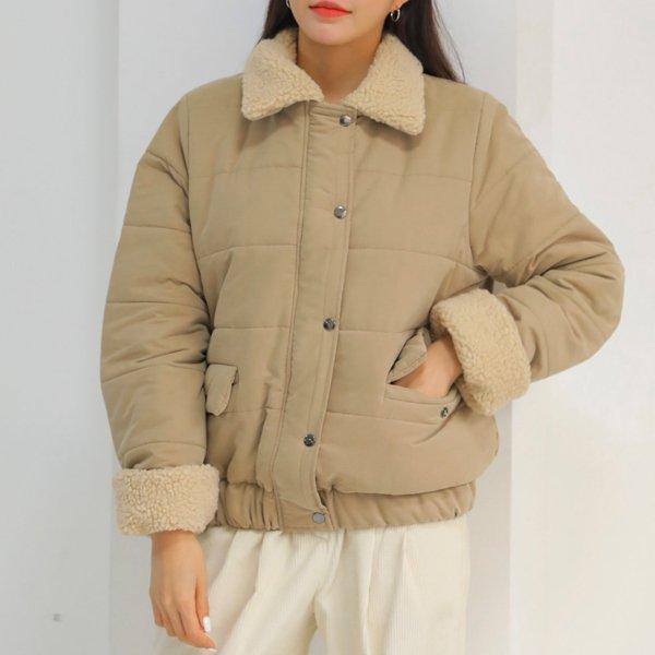 퍼시픽양털배색패딩 WB7670M912  도매 배송대행 미시옷 임부복