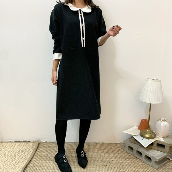 블랙앤화이트원피스 BS7882M001  도매 배송대행 미시옷 임부복