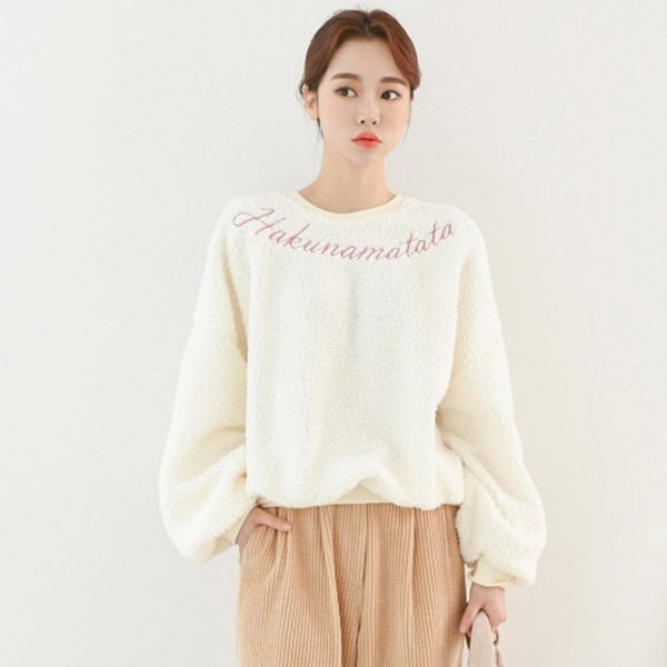 루즈덤블자수맨투맨 SO7909M001  도매 배송대행 미시옷 임부복