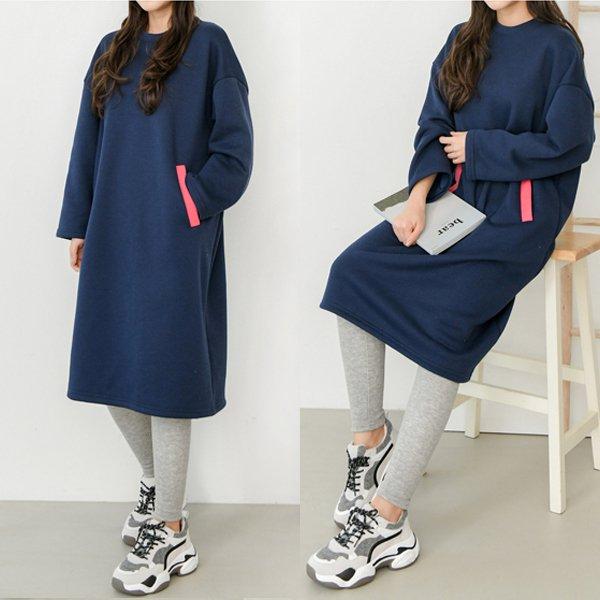 네온포켓기모원피스 SO7972M001  도매 배송대행 미시옷 임부복