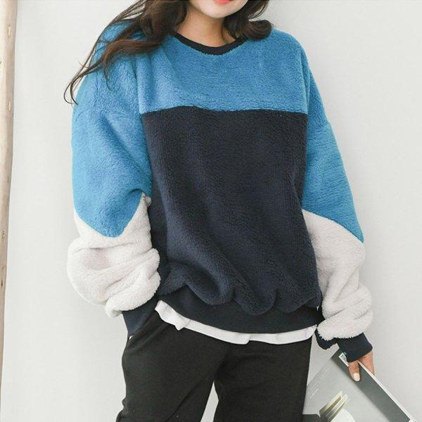 덤블컬러배색맨투맨 SO7974M001  도매 배송대행 미시옷 임부복