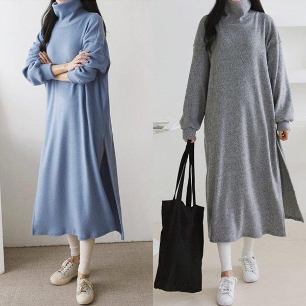 베이직폴라롱원피스 GR7977M001  도매 배송대행 미시옷 임부복