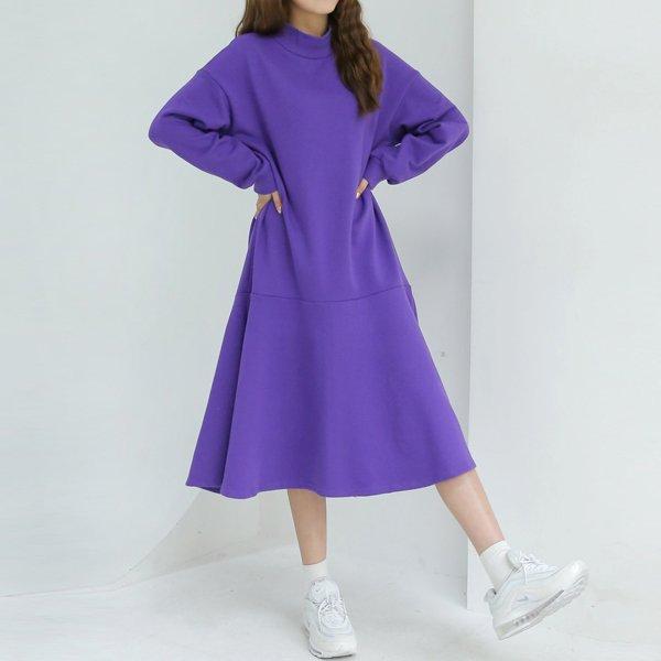 하프넥훌면원피스 WB7987M001  도매 배송대행 미시옷 임부복