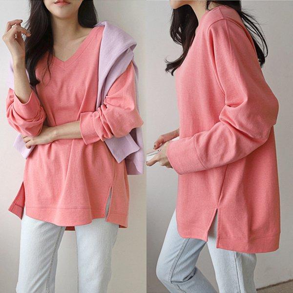 케미브이넥루즈핏티 BQ8303M002  도매 배송대행 미시옷 임부복