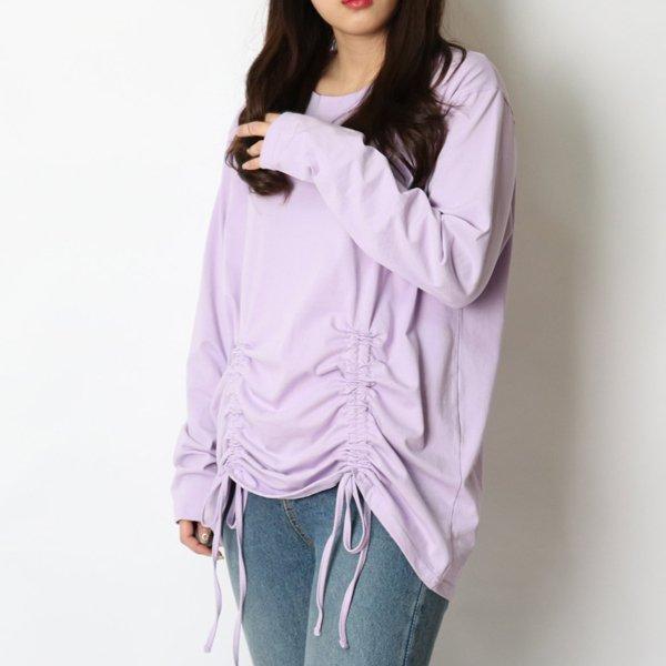 셔링끈러블리티셔츠 HG8304M002  도매 배송대행 미시옷 임부복