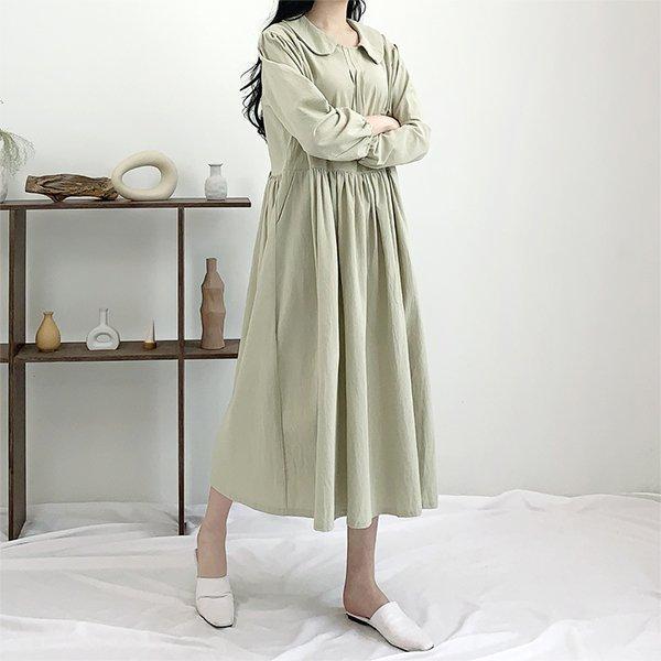 빅사이즈 블리퍼프카라원피스 TG8555M003 도매 배송대행 미시옷 임부복