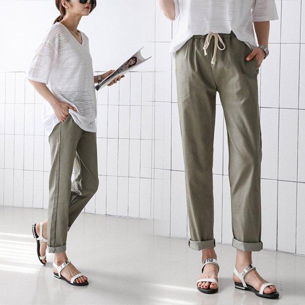 빅사이즈 밴딩배기마바지 SO8581M003 도매 배송대행 미시옷 임부복