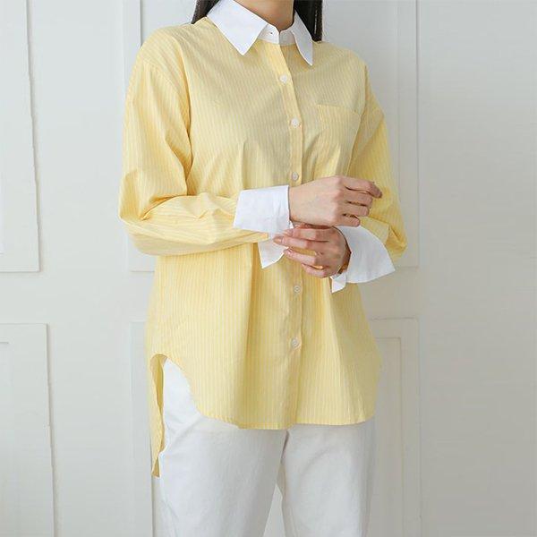 빅사이즈 클래식언발잔줄셔츠 WB8933M003 도매 배송대행 미시옷 임부복