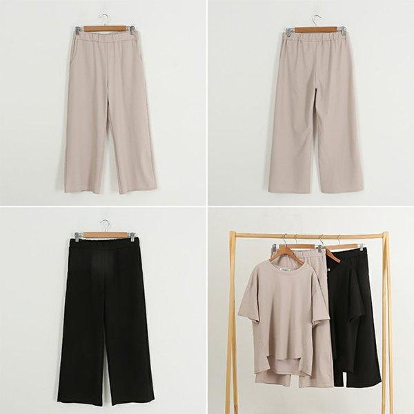 빅사이즈 무지루즈썸바지세트 WB9760M005 도매 배송대행 미시옷 임부복