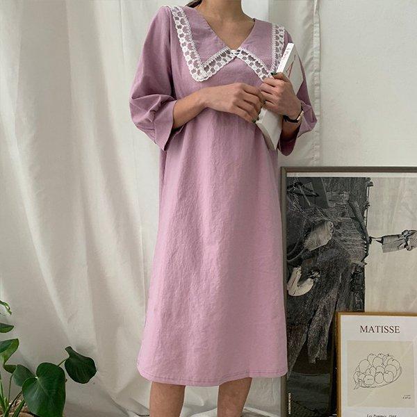 빅사이즈 레이스린넨롱원피스 BS9769M005 도매 배송대행 미시옷 임부복