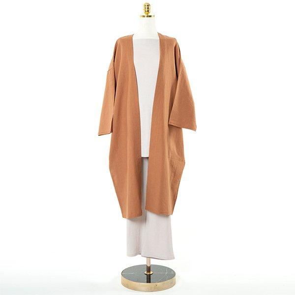 빅사이즈 린넨노카라무지자켓 CM9984M006 도매 배송대행 미시옷 임부복