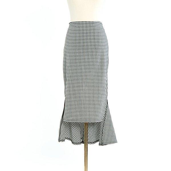 빅사이즈 인어체크스판스커트 CMA402M006 도매 배송대행 미시옷 임부복
