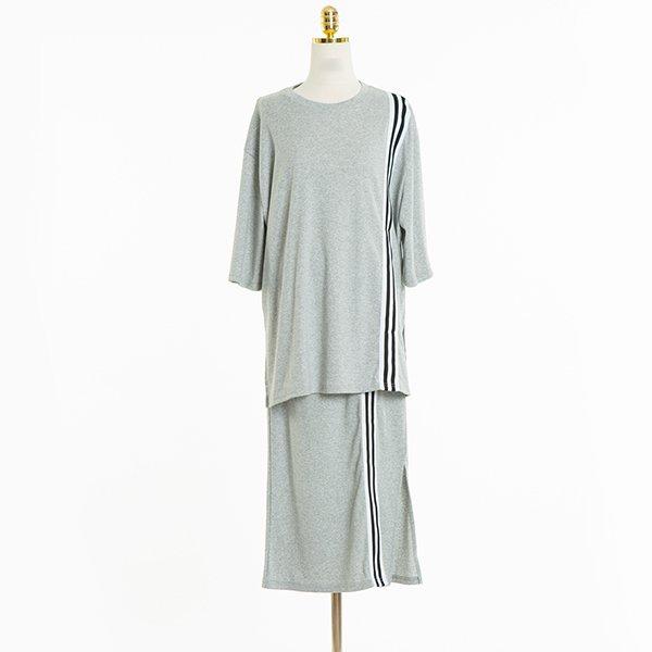 빅사이즈 배색선트임치마세트 CMA405M006 도매 배송대행 미시옷 임부복