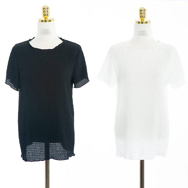 빅사이즈 엠보시어주름반팔티 CMA409M006 도매 배송대행 미시옷 임부복