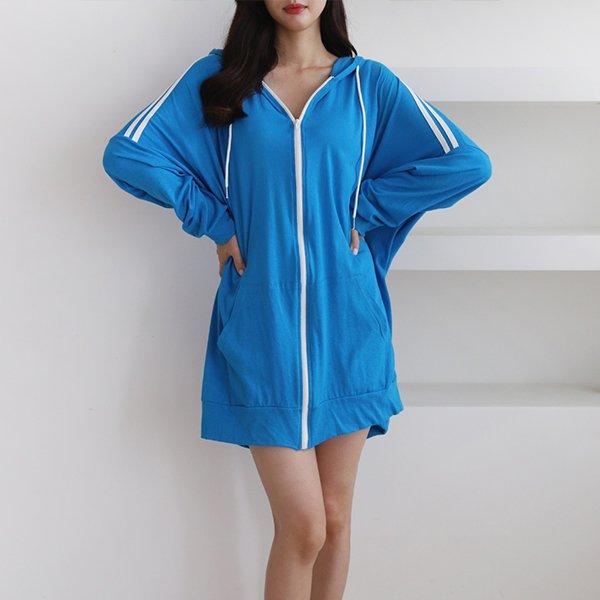 두줄오버핏롱후드집업 DADA422 도매 배송대행 미시옷 임부복