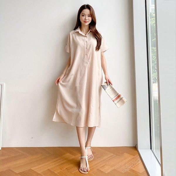 루즈롱남방원피스 TMA426M006 도매 배송대행 미시옷 임부복