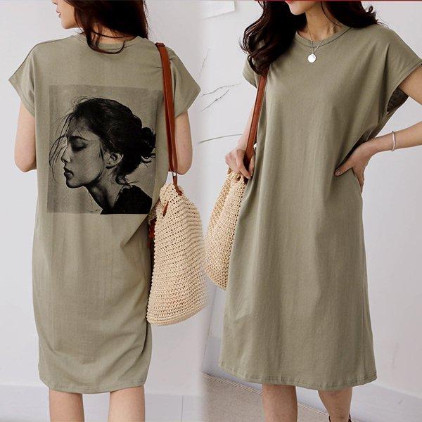 여인백나염롱원피스 SOA429M006 도매 배송대행 미시옷 임부복