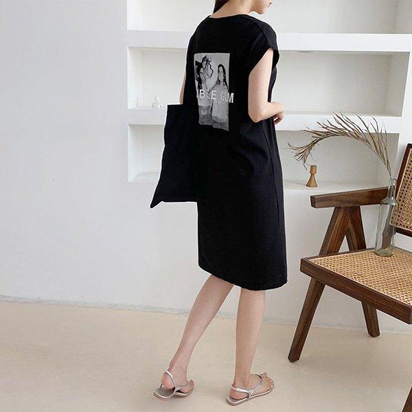 007 루즈통면백나염원피스 DNOA435 도매 배송대행 미시옷 임부복